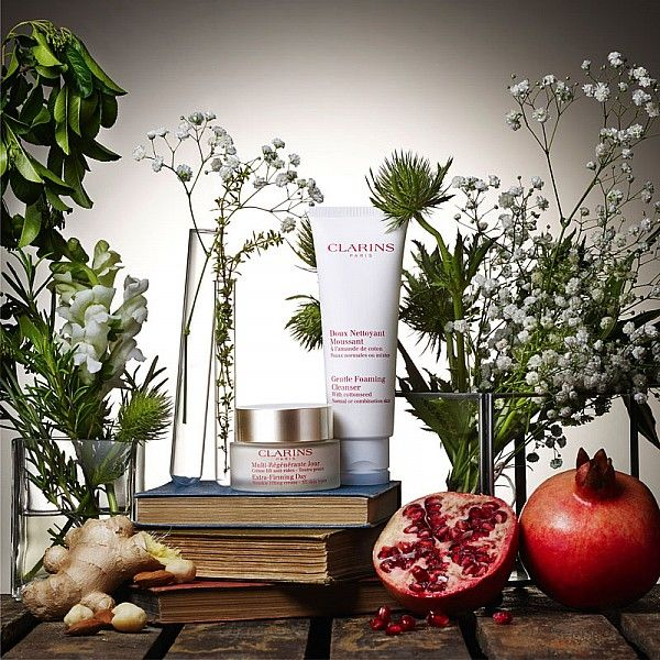 Hannah Read-Baldrey styles the latest Clarins promotion