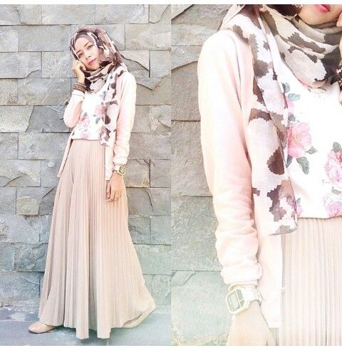 In love with her shirt, hijab and the overall colours - wish I can pull this off.