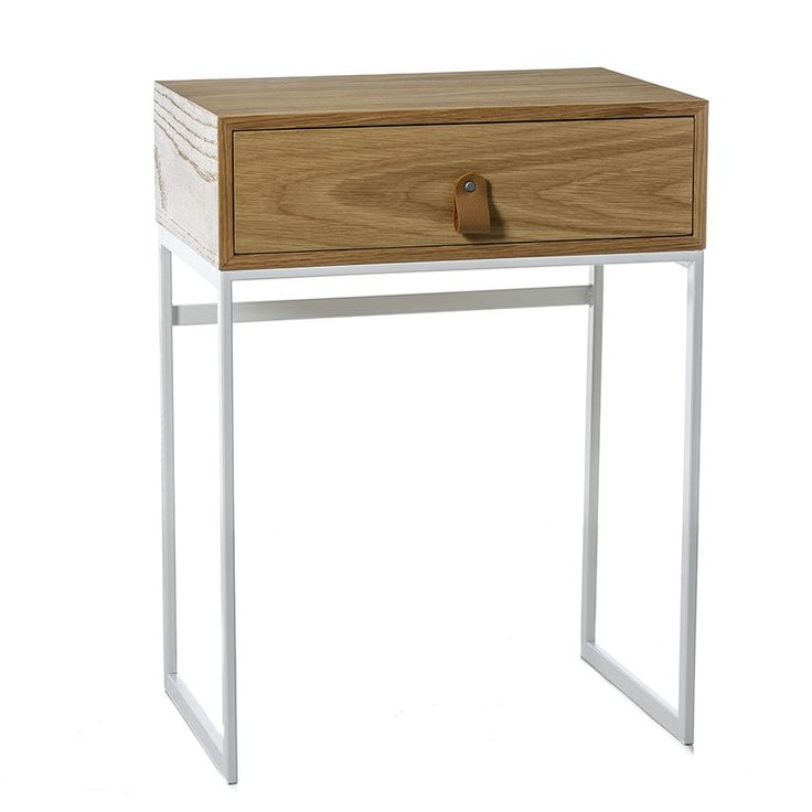 A natural timber design with a handy draw for storage, the Milo side table is ideal for beside the bed or couch. With steel legs and stylish leather handle, you can see the quality in this beautiful piece of furniture.