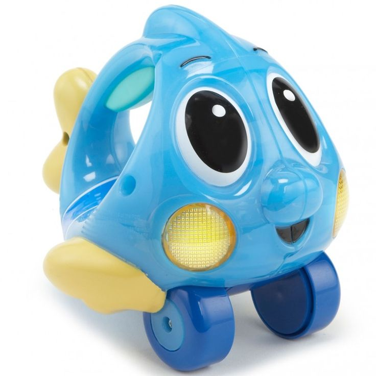 The Lil' Ocean Explorers Push 'n Glow Fish in blue is a fun, light-up baby push toy that promotes active play. The Little Tikes blue Push 'n Glow F...