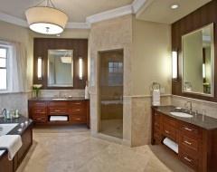 Cabinet/tile floor color combination