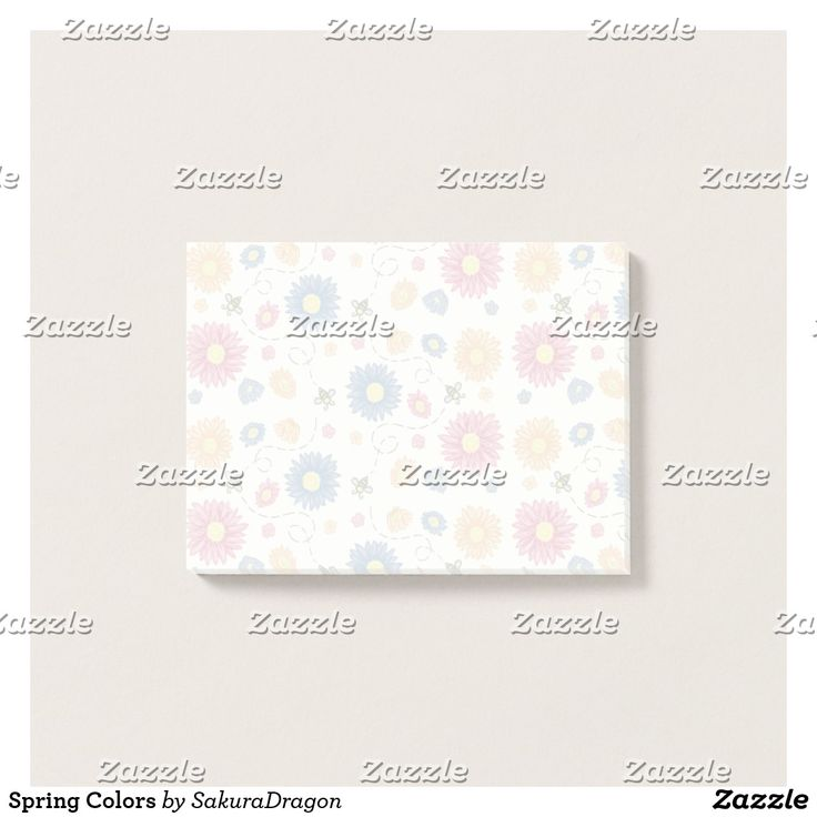 Spring Colors Post-it Notes #spring #buzz #bee #flower #floral
