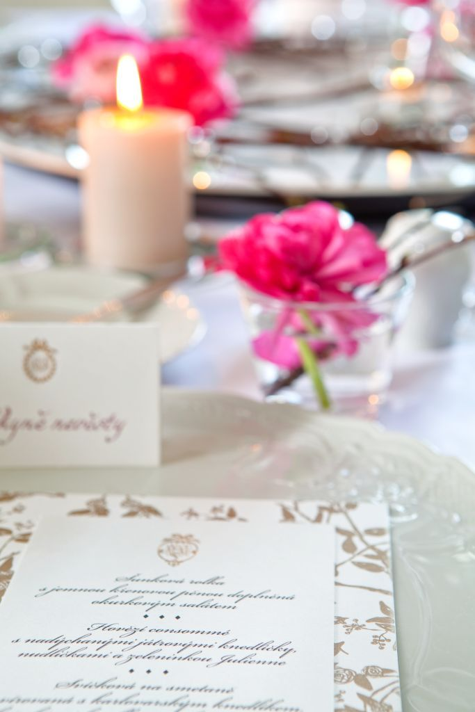 Luxury Wedding menu