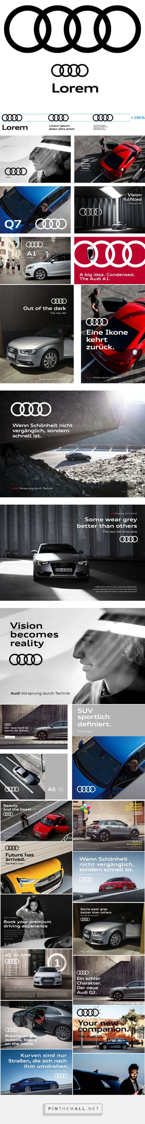 Brand New: New Global Identity for Audi by Strichpunkt and KMS TEAM... - a grouped images picture - Pin Them All