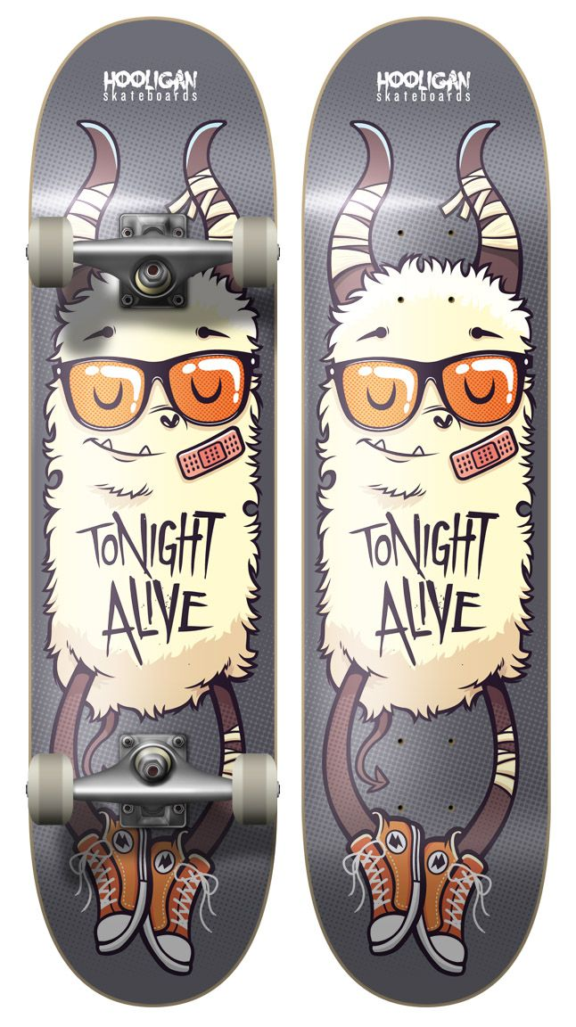 Tonight Alive - Board Design 1 by ~cronobreaker on deviantART