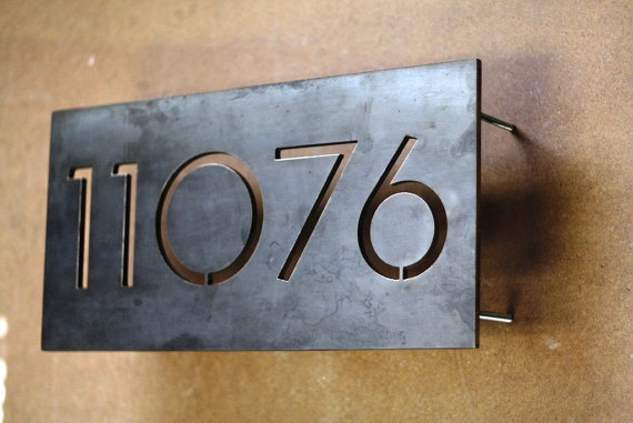 Modern House Numbers  Centered 5 Numbers by austinoutdoor on Etsy, $100.00