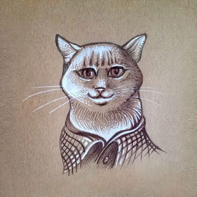 Leo for @mega_leo00028   #cat #catsofinstagram #pet #drawing #art #atgram #instaart #myart