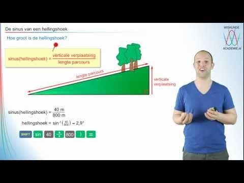 Goniometrie - de sinus van een hellingshoek - WiskundeAcademie - YouTube