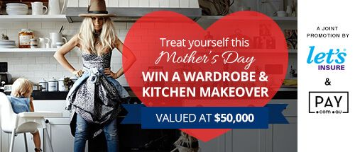 Hey there, I just entered this competition and thought you might be interested to win a wardrobe and kitchen makeover worth $50k. To enter, visit -