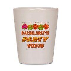 Tropical Bachelorette Weekend Shot Glass> Tropical Bachelorette Party Weekend> peacockcards.com