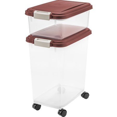 Dog Food Containers With Wheels 3pc Airtight Plastic Container With Scoop Pet Supplies * Read more  sc 1 st  Pinterest & The 102 best Pet food storage containers images on Pinterest   Pet ...
