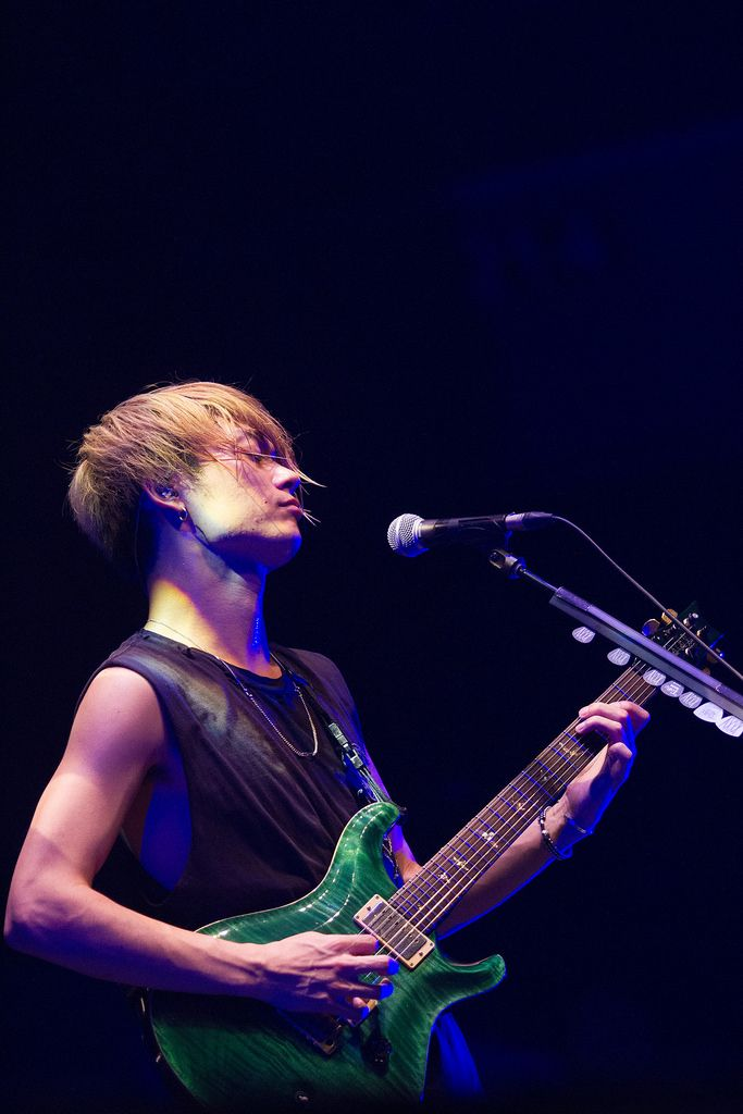 Toru Yamashita of ONE OK ROCK. Photo by PULP Live World/ JHG Photography