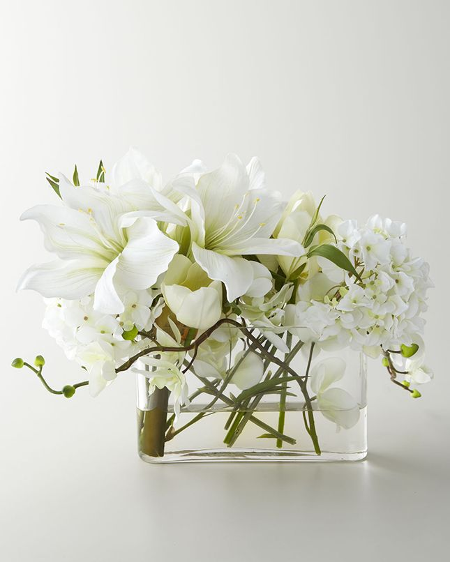 20 Modern Faux Flower Arrangements via Brit + Co.