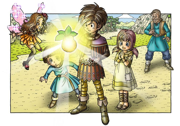 Promotional Illustration of Dragon Quest 9. I think they went all out on the artwork for this one. Although the graphics in this game could have been much better, I still really love the game.