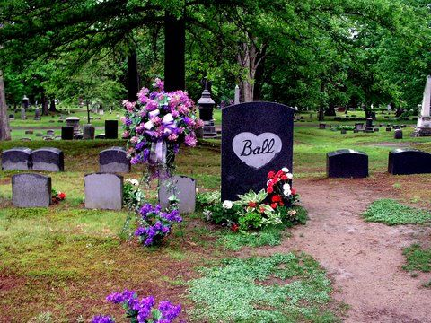 Lucille Ball's memorial in Jamestown, NY at Lake View Cemetery.