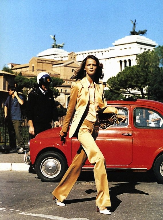 "The Terrier and Lobster: ""Roman Holiday"": Carmen Kass by Mario Testino for US Vogue"