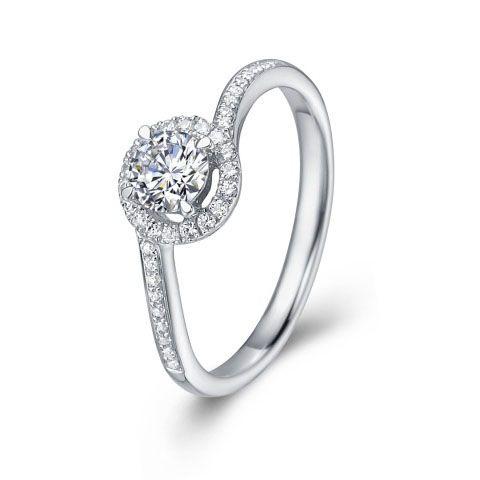 4 claw round brilliant diamond engagement ring