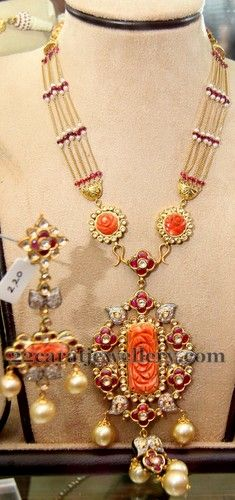 Jewellery Designs: Corals Latest Fancy Long Chain