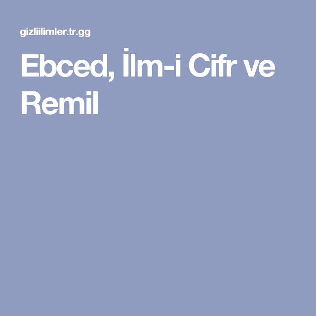 Ebced, İlm-i Cifr ve Remil