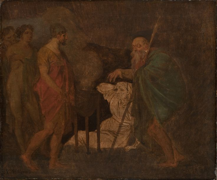 Odysseus Takes Counsel with Teiresias. From Homer´s Odyssey | Nicolai Abildgaard | 1809 | Statens Museum for Kunst | CC0