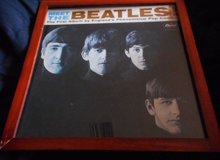 Meet The Beatles, First Album and Gold LP Record, Encased in Double-Sided Frame