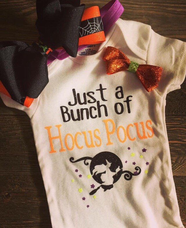 Just a Bunch of Hocus Pocus, Hocus Pocus, Girls Halloween Onesie, Newborn, Fall…