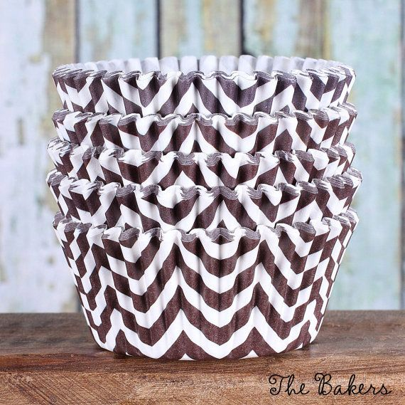 Brown Chevron Cupcake Liners Brown Cupcake Wrappers Brown
