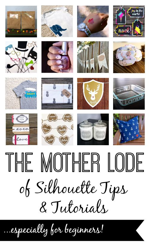 The Mother Lode of Silhouette Tips & Tutorials...especially for beginners!  Organized by medium & category...this is amazing!