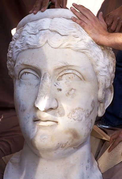 Archaeologists of the Katholieke Universiteit Leuven team (Belgium) directed by Marc Waelkens uncovered the colossal portrait head of the Roman empress Faustina, wife of the emperor Antoninus Pius, who ruled from A.D. 138 to 161. According to Waelkens, the excavation team was ecstatic at the discovery.