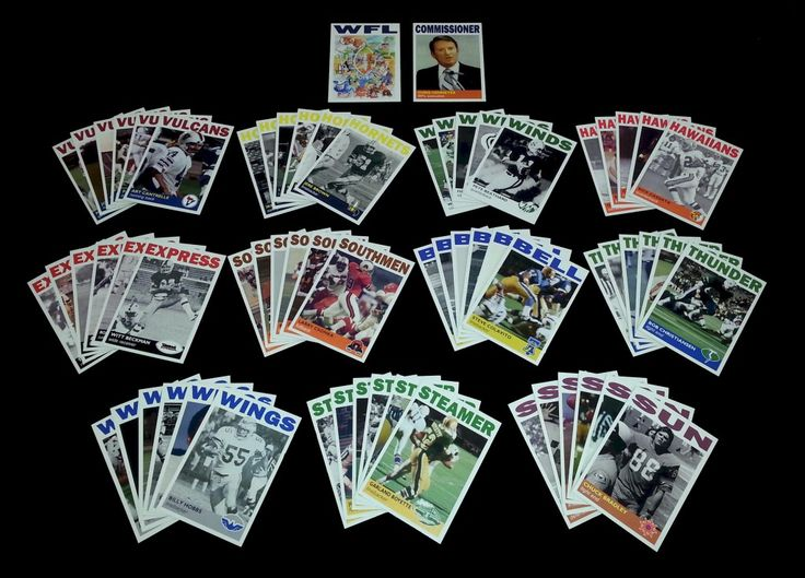 World Football League Trading Cards