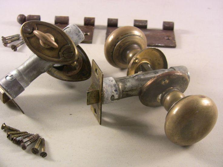 Details About Vintage Brass Exterior Door Knobs Lock Set Dexter Door Knobs Brass Door Hardware & Dexter Trailer Doors u0026 Dexter EZ Lube Drop Axles With Brakes On ... pezcame.com