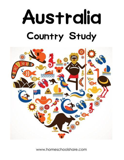 Australia Free Lapbook from Homeschool Share