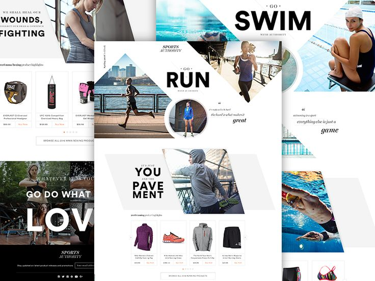 Sports Authority 2016 Lookbook Web inspiration, Lookbook