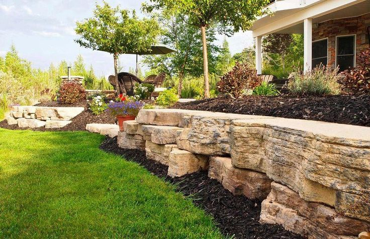 rosetta outcropping large retaining wall landscaping on stone wall id=45022