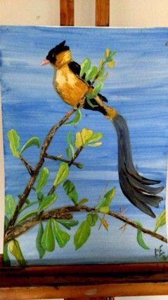 Bird in Oil