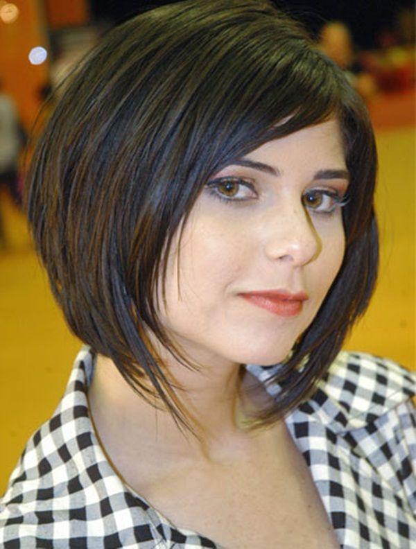 Corte de cabelo feminino para rosto redondo