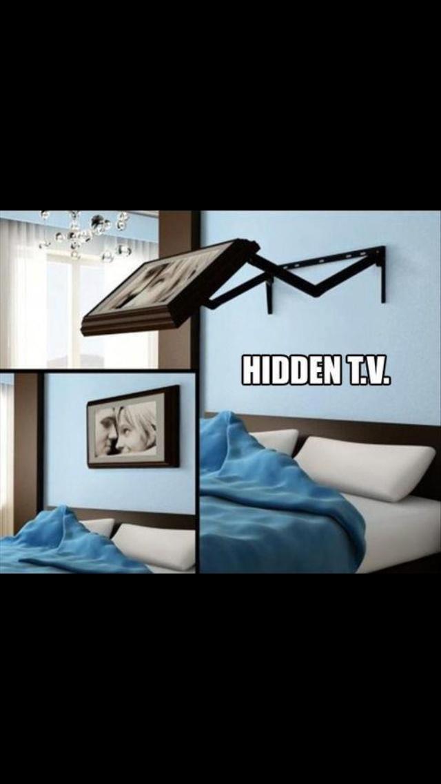 Hidden TV in bedroom