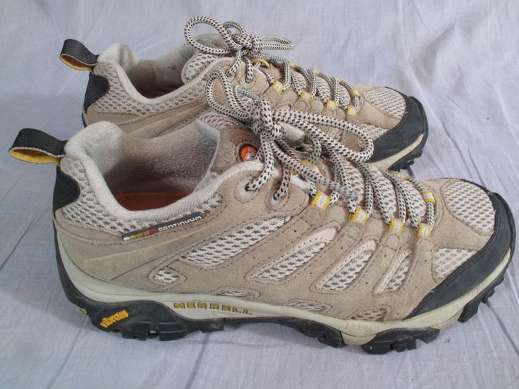 Women's Merrell Shoes Brown Size 9 M Leather Hiking Lace Up Med #Merrell #LaceUp