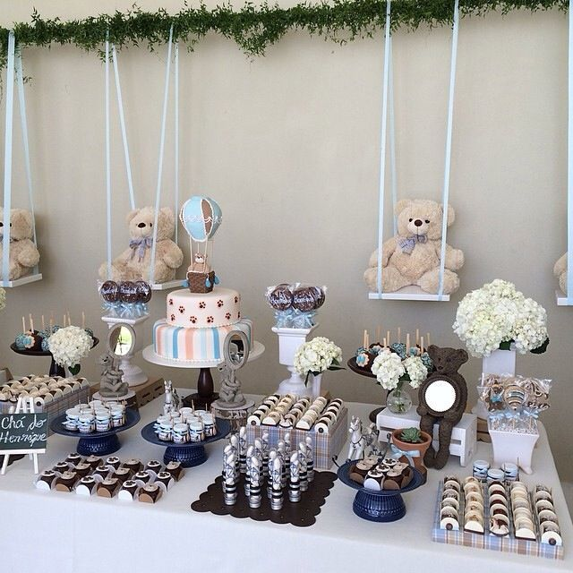 Bear themed party...coukd be gender reveal/baby shower or birthday party.