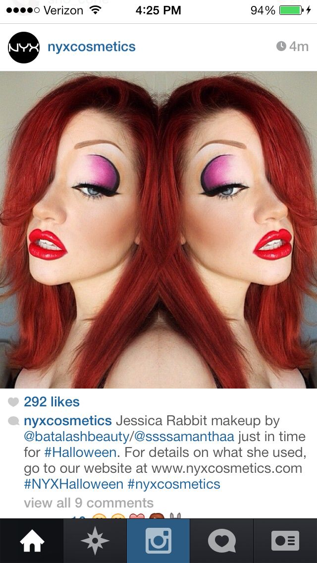 Jessica Rabbit Makeup                                                                                                                                                                                 Más