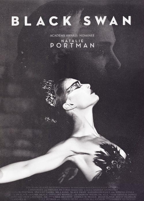 black and white, black swan, natalie portman