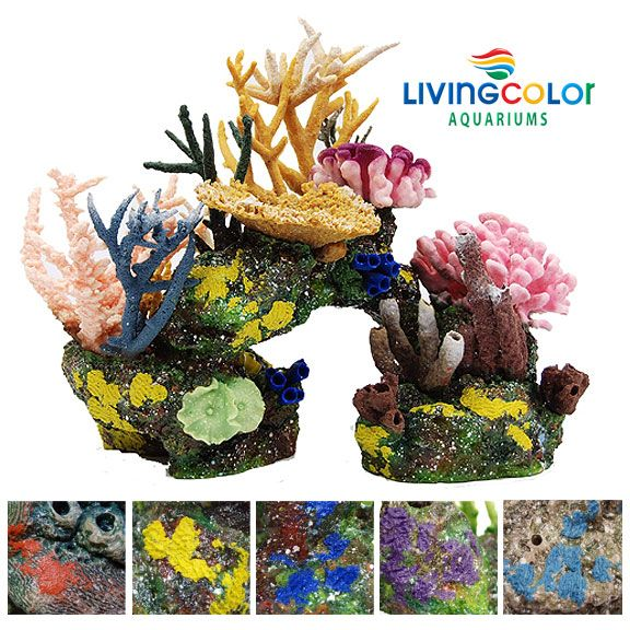 Living color artificial coral inserts make a great for Artificial coral reef aquarium decoration inserts