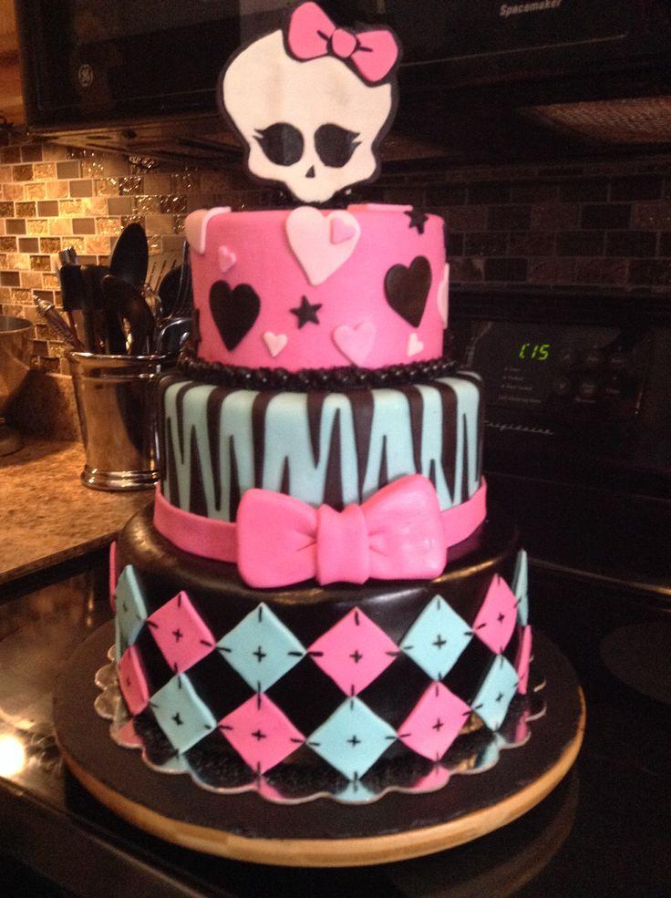 Monster High Cake 2 Cake, Monster high cake, Fondant cakes