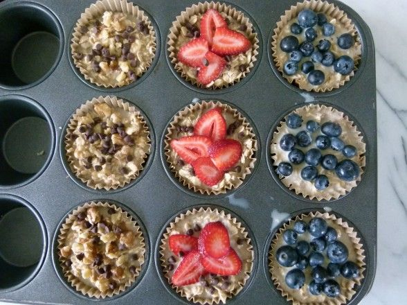 Individual baked oatmeal bites: healthy and quick for hectic mornings.