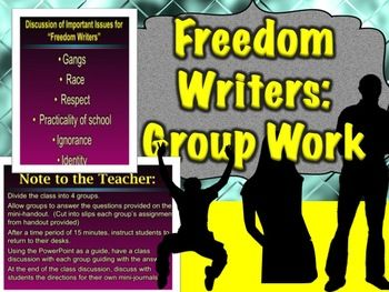 freedom writers essay topics Themes and writing prompts freshman year ms gruwell's diary entry (before the first day of class) at the beginning of the freedom writers diary.