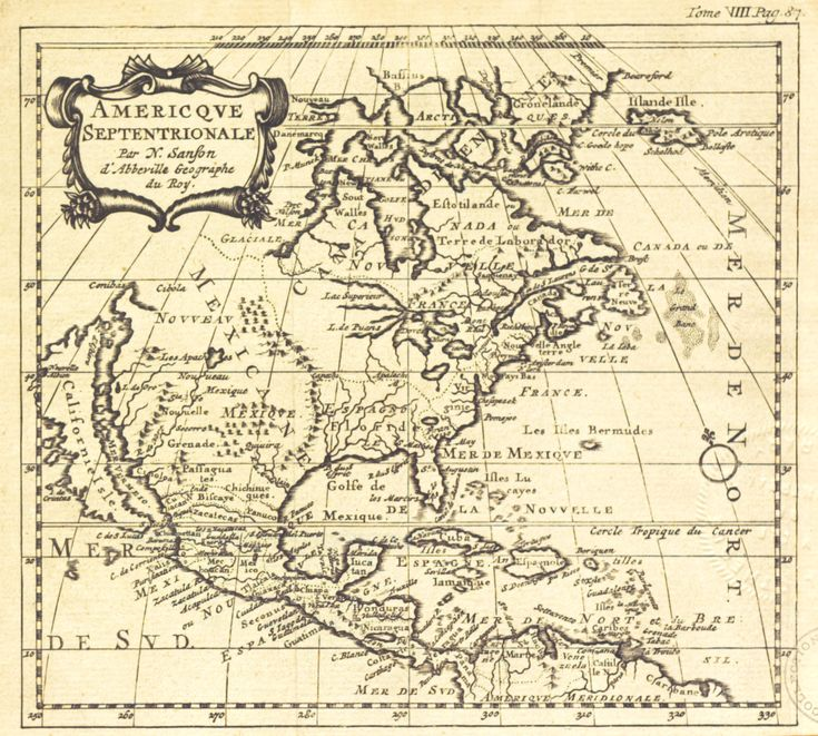 1700-Amerique Septentrionale / Par N. Sanfon d'Abberville, Geographe du Roy.