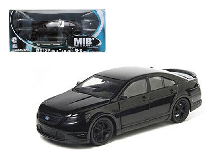 "2012 Ford Taurus SHO \Men in Black 3"" Modern Agent Car 1/24 Diecast Model Car by Greenlight"""