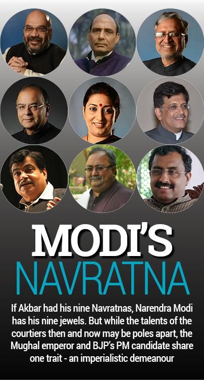 Who are Narendra Modi's most trusted lieutenants? http://indiatoday.intoday.in/modi-navratnas/index.jsp … pic.twitter.com/tAl5TjTLXR