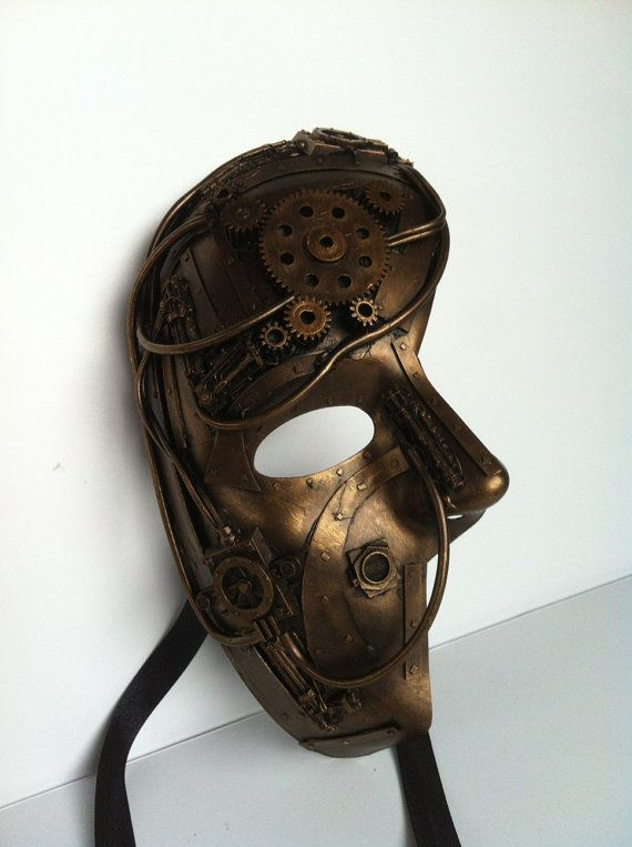 steampunk / techno phantom masquarade mask. ERHMAGERD!!!!!! THIS IS SO FREAKING AWESOME!!!!!