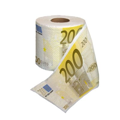 Thumbs Up 200 Euro Toilet Roll